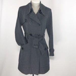 Tommy Hilfiger Polka Dot Trench Coat